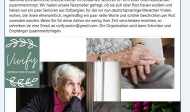 Familienhilfe VoG bietet Brieffreundschaft für Senioren an image news emja.be
