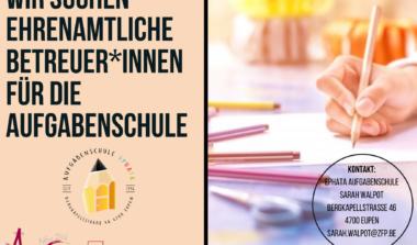 Ehrenamtliche Betreuer*innen für die Aufgabenschule Ephata gesucht! image news emja.be